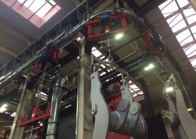 P&F Anlage mit Kettenzügen für Großteile